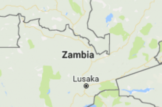 Photo of Zambia map cropped from Google map (Courtesy Google map)