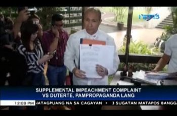 "Alejano files supplemental complaint vs President Duterte; Panelo says it's mere ""propaganda,"" ""for publicity"""