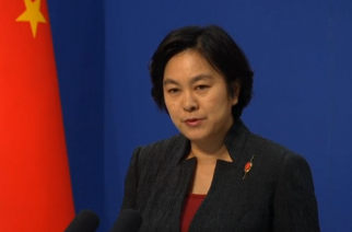 China's Foreign Ministry denies reports that China will begin preparatory work this year for an environmental monitoring station on a disputed shoal in the South China Sea.  (Photo grabbed from Reuters)