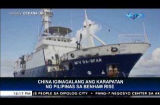China iginagalang ang karapatan ng Pilipinas sa Benham Rise
