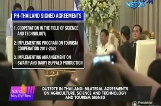 Duterte in Thailand:  Bilateral agreements on agriculture, science and technology and tourism signed