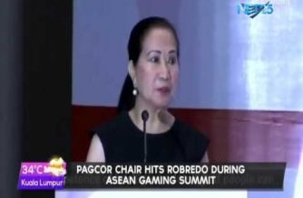 Emotional PAGCOR Chair hits Robredo during ASEAN Gaming Summit; says VP maligned the country
