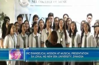 INC Evangelical mission at musical presentation sa lokal ng New Era University, dinagsa