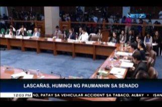 Lascañas apologizes to Senate, says he was coerced to lie