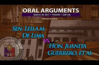 LIVE STREAMING: Supreme Court holds third round of oral arguments on De Lima petition