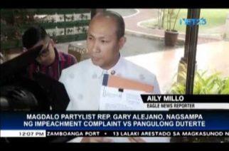 Magdalo files impeachment complaint vs President Duterte