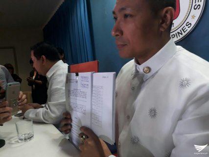 Magdalo representative presents impeachment complaint vs Duterte