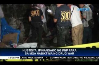 PNP to investigate drug war-related deaths; vows justice for victims