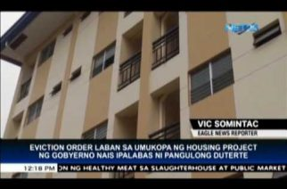 President Duterte to issue eviction order vs illegal occupants of gov't housing projects in Bulacan