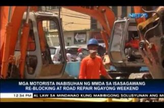 Public Advisory: MMDA announces road repairs this weekend
