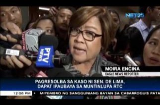 SolGen asks Supreme Court to allow Muntinlupa court to resolve De Lima case
