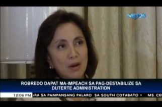 Speaker mulls filing impeachment complaint vs Robredo