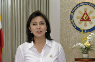 (File photo) Vice  President Leni Robredo in her six-minute video message recorded for a side session to the United Nations Commission on Narcotic Drugs annual meeting in Vienna on Thursday, March 16, 2017.  The video was presented by a Washington-based non government organization which is against drug wars in general.  (Photo grabbed from Robredo's video message)