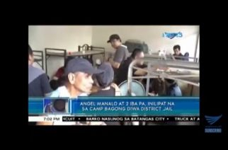 WATCH: Angel Manalo, 2 others transferred to Camp Bagong Diwa district jail
