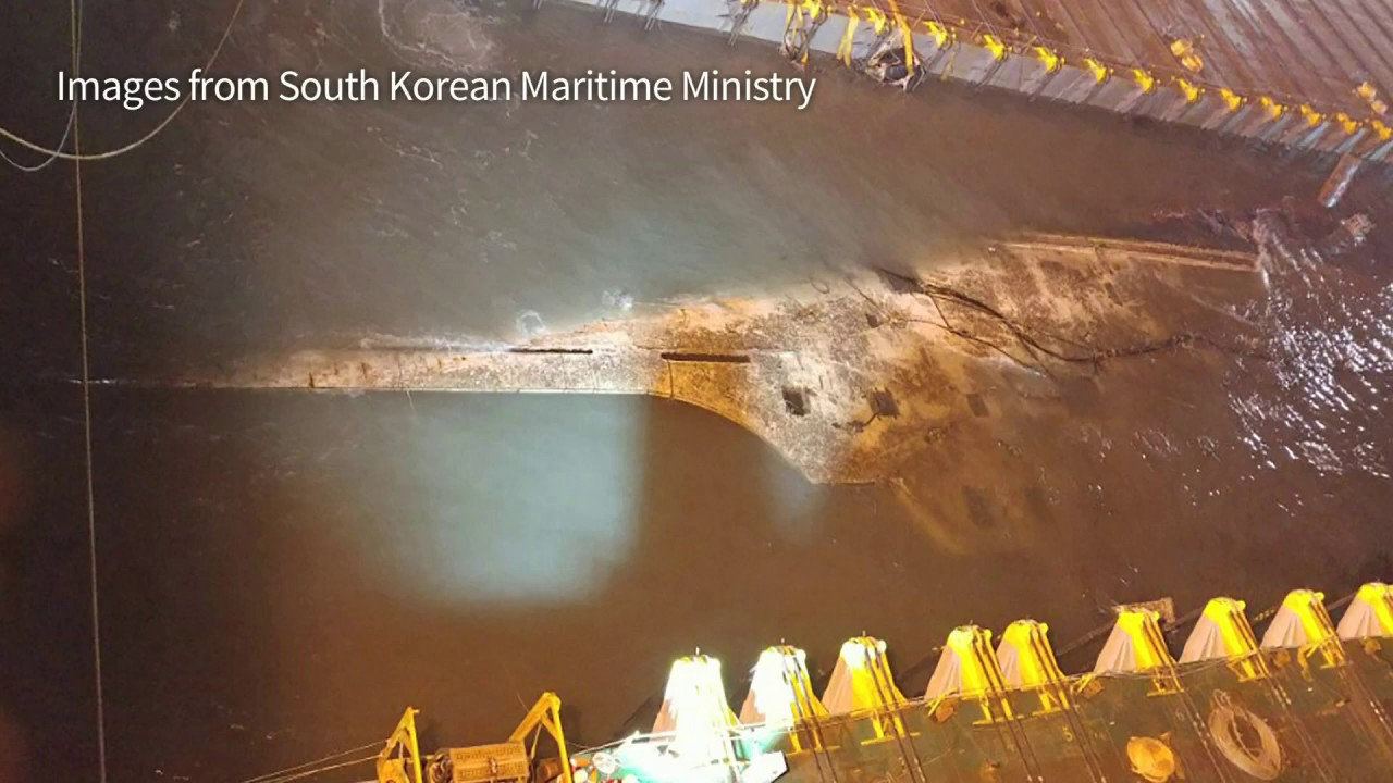Watch:  South Korea raises sunken Sewol ferry