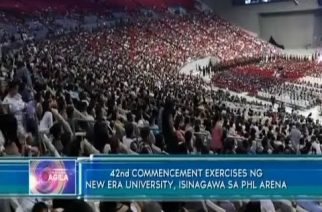 42nd Commencement Exercises ng New Era University, isinagawa sa Philippine Arena