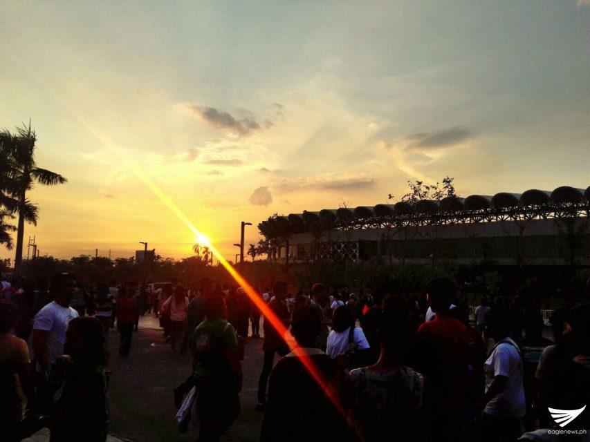 Beautiful sunset in Philippine Arena 2