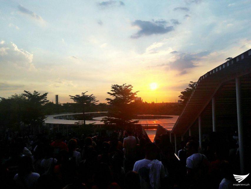 Beautiful sunset in Philippine Arena 3