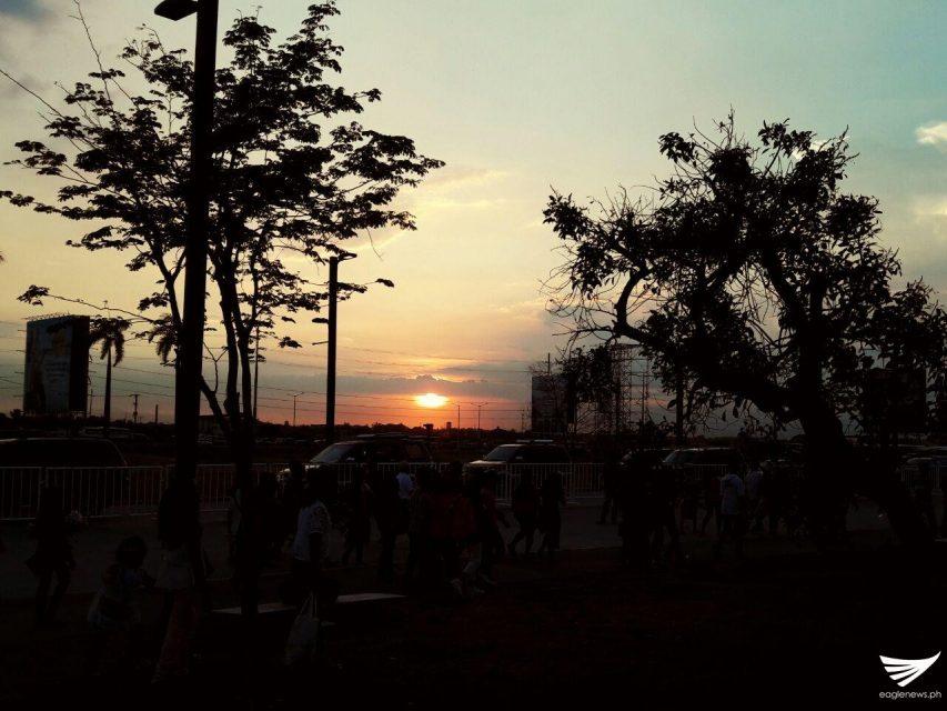 Beautiful sunset in Philippine Arena 4