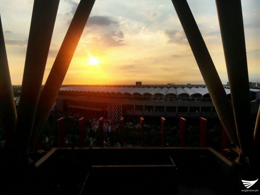 Beautiful sunset in Philippine Arena 5
