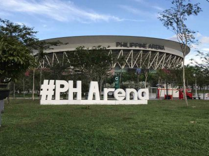 The magnificent 55,000 seater Philippine Arena in Bocaue, Bulacan has become a tourist attraction for the Philippines. (Photo courtsesy Philippine Arena official facebook page)