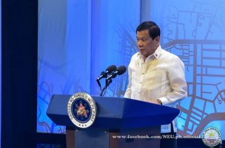 President Rodrigo Duterte speaks at the opening of the 30th ASEAN Summit in Manila on Saturday, April 29, 2017.  (Photo courtesy Jaimar Orosa/New Era University)