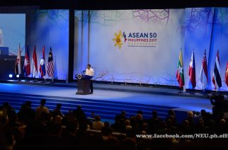 President Duterte speaking at the opening of the 30th ASEAN Summit in Manila