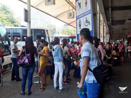 Situation at the Araneta bus terminal on Wednesday. Aily Millo, Eagle News Service