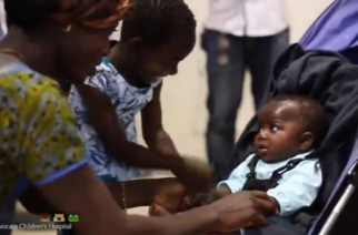 A baby girl born with four legs and two spines returns home to the Ivory Coast after being successfully separated from a parasitic twin in a rare and complex surgery at a Chicago hospital.(photo grabbed from Reuters video)