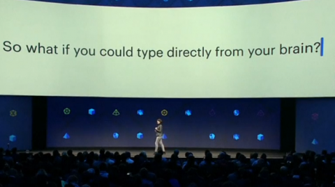 Facebook reveals it's studying ways for people to communicate by thought and touch.(photo grabbed from Reuters video)