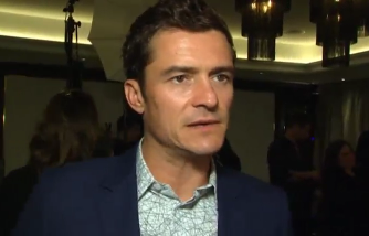 Actor Orlando Bloom attended a special screening in London of his film 'Unlocked' on Tuesday (April 25). Photo grabbed from Reuters video file.