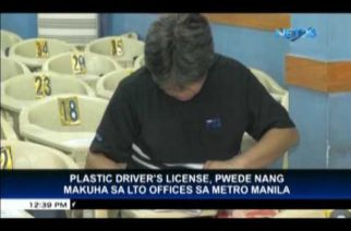 LTO Offices in Metro Manila now releasing plastic drivers' license cards
