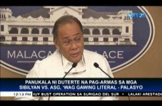 Palace says Duterte's remarks on arming civilians vs ASG in Bohol, not to be taken literally