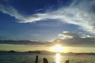 Sta. Clara sunset, Batangas City.  (Photo taken by Jonas Fermalan)