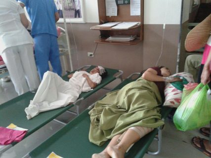 Some of the injured passengers of the Leomarick bus, while being treated at a hospital.  Their bus fell into a deep ravine in Bgy. Capintalan, Carranglan, Nueva Ecija.  (Eagle News Service)