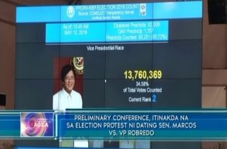 Preliminary conference, itinakda na sa election protest ni dating senador Bongbong Marcos