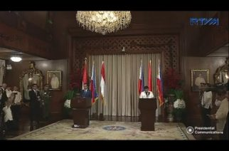 President Duterte and Indonesian President Widodo deliver their joint speech afer signing of agreements
