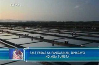 Salt farms sa Pangasinan, dinarayo ng mga turista
