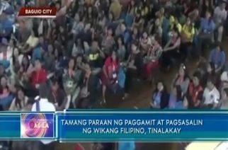 Tamang paraan ng paggamit at pagsasalin ng wikang Filipino, tinalakay