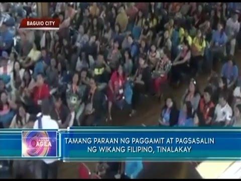 Tamang paraan ng paggamit at pagsasalin ng wikang filipino for Bureau tagalog