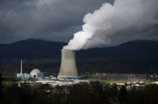 (FILES) This file photo taken on November 11, 2016 shows The Goesgen Nuclear Power Plant near Daeniken, Northern Switzerland.  ?Switzerland on May 21, 2017, votes on whether to overhaul its national energy policy, with proposals on phasing out nuclear energy and boosting reliance on renewables, in the latest referendum in the country's direct democracy system. / AFP PHOTO / FABRICE COFFRINI