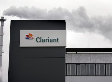 "(FILES) This file photo taken on November 14, 2006 at the company headquarters in Muttenz shows the logo of the Swiss chemicals group Clariant on a building.  Swiss group Clariant on May 22, 2017 said it planned to merge with US counterpart Huntsman to create a trans-Atlantic chemicals giant with a combined value of around $20 billion. The all-stock transaction -- which Clariant said would be a ""merger of equals"" -- was agreed by the boards of both companies.   / AFP PHOTO / FABRICE COFFRINI"