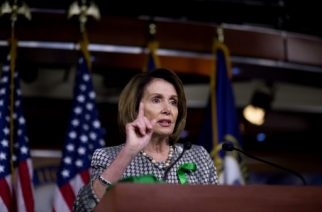 WASHINGTON, DC - MAY 4: House Minority Leader Nancy Pelosi speaks during her weekly press conference on Capitol Hill May 4, 2017 in Washington, DC. Pelosi spoke ahead of the House vot on the the health care bill repeal.   Eric Thayer/Getty Images/AFP