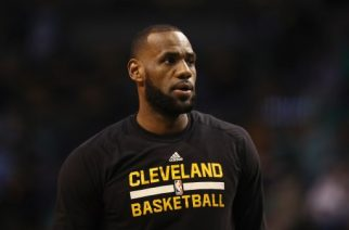 BOSTON, MA - MAY 17: LeBron James #23 of the Cleveland Cavaliers looks on prior to Game One of the 2017 NBA Eastern Conference Finals against the Boston Celtics at TD Garden on May 17, 2017 in Boston, Massachusetts. NOTE TO USER: User expressly acknowledges and agrees that, by downloading and or using this photograph, User is consenting to the terms and conditions of the Getty Images License Agreement.   Elsa/Getty Images/AFP
