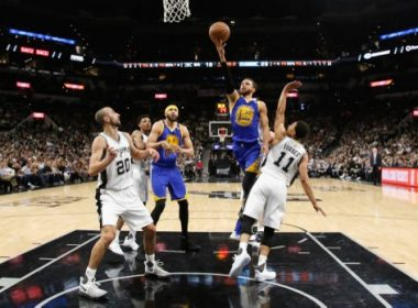 SAN ANTONIO, TX - MAY 22: Stephen Curry #30 of the Golden State Warriors drives to the basket in the first half against Bryn Forbes #11 of the San Antonio Spurs during Game Four of the 2017 NBA Western Conference Finals at AT&T Center on May 22, 2017 in San Antonio, Texas. NOTE TO USER: User expressly acknowledges and agrees that, by downloading and or using this photograph, User is consenting to the terms and conditions of the Getty Images License Agreement.   Ronald Cortes/Getty Images/AFP