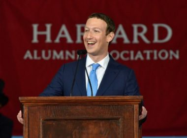 CAMBRIDGE, MA - MAY 25: Facebook Founder and CEO Mark Zuckerberg delivers the commencement address at the Alumni Exercises at Harvard's 366th commencement exercises on May 25, 2017 in Cambridge, Massachusetts. Zuckerberg studied computer science at Harvard before leaving to move Facebook to Paolo Alto, CA. He returned to the campus this week to his former dorm room and live streamed his visit.   Paul Marotta/Getty Images/AFP
