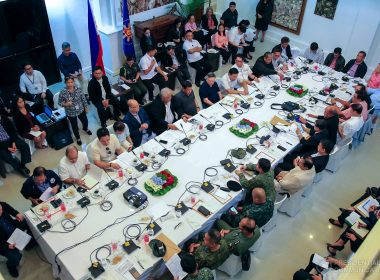 President Rodrigo Duterte presides over a special Cabinet meeting at the Presidential Guest House in Panacan, Davao City on May 25, 2017.  (Photo courtesy Presidential Communications Office)