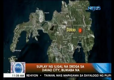 Suplay ng iligal na droga sa Davao City, bumaba na