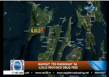 Mahigit 700 Barangay sa Iloilo Province, drug free