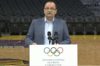 Los Angeles 2024 made a final pitch to the International Olympic Committee's Evaluation Commission on Friday (May 12) and now will wait and see if they hit a home run to win the right to host the Summer Games for a third time. Photo grabbed from Reuters video file.